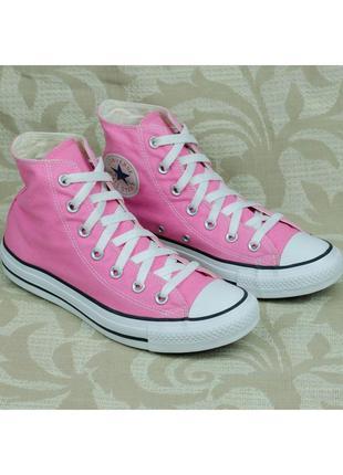 Розовые высокие кеды converse chuck taylor all star hi оригина...