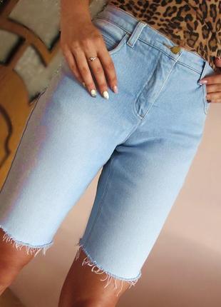 Стильные джинсовые  бриджи шорты john baner