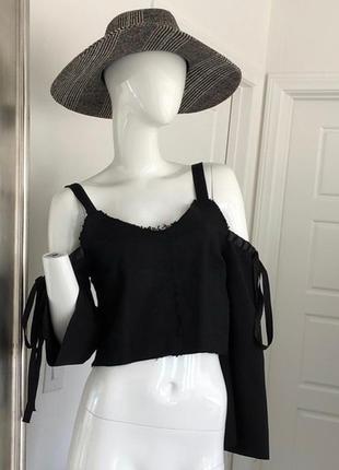 Модная черная блуза, топ zara