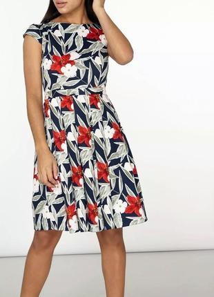 Хлопковое платье с цветочным принтом dorothy perkins