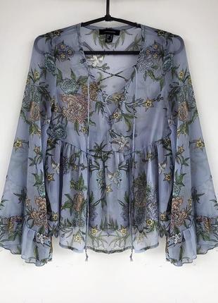 Блуза шифоновая в цветочный принт  atmosphere