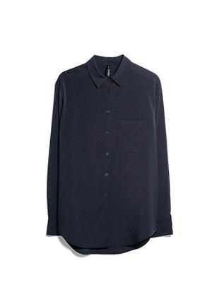 Темно-синяя рубашка mango