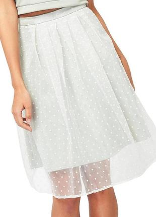 Сетчатая юбка в горошек  miss selfridge