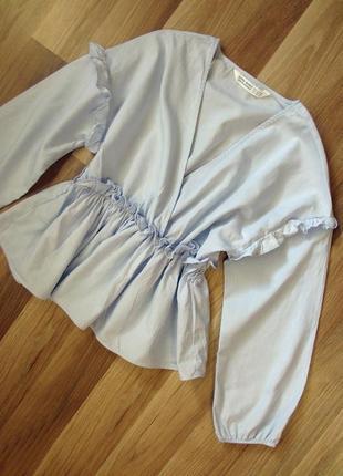 Блуза zara, 100% хлопок
