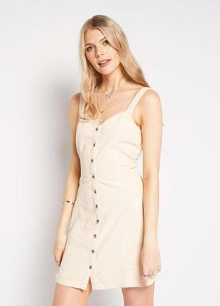 Платье сарафан на пуговицах  miss selfridge