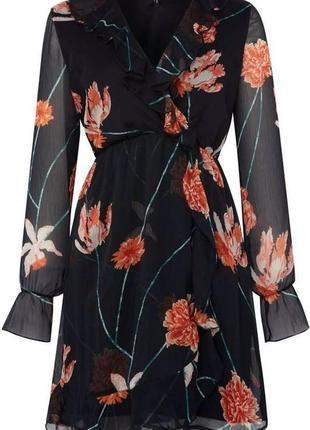 Платье с цветочным принтом vero moda
