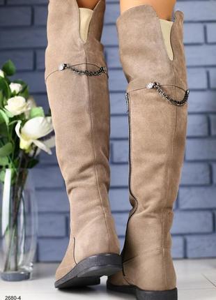 Lux обувь! распродажа! высокие натуральные зимние сапоги ботфорты