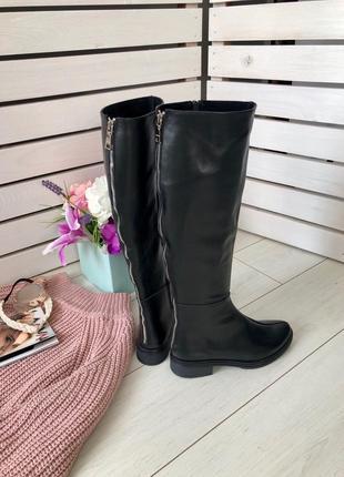 Lux обувь! идеальные кожаные зимние натуральные женские сапоги