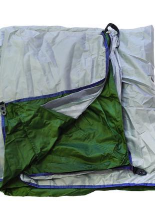 Палатка для кемпинга двухместная, Хаки с серым