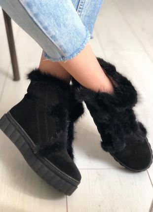 Lux обувь! стильные натуральные зимние ботинки сапоги угги ugg