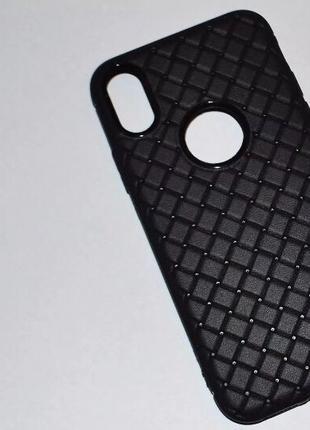 Защитный черный чехол Iphone X в стиле Bottega Veneta