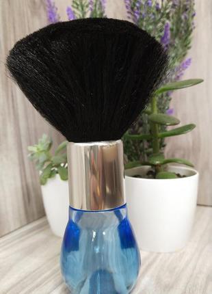 Сметка парикмахерская длинная цветная ручка черный ворс (16 см)