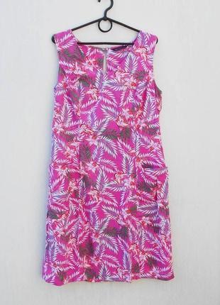 Летнее льняное платье  из вискозы 🌿