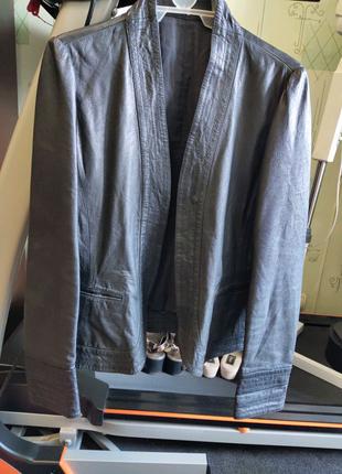 Пиджак курточка натуральная кожа телячья