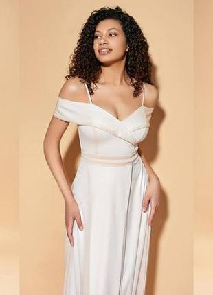 Платье можно как свадебное цвет молоко