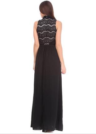 Платье вечернее в пол черное