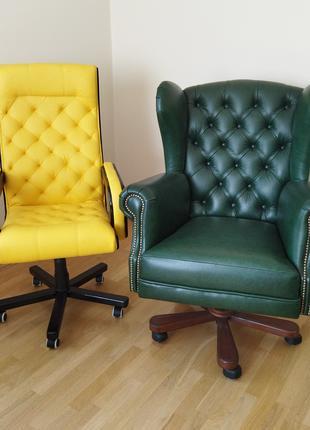 Новое кожаное кресло garne kriselechko, офісне крісло нове ручна