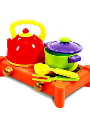 Посудка детская с плитой (5 предметов)