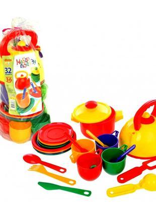 Набор посудки детский (32 предмета)