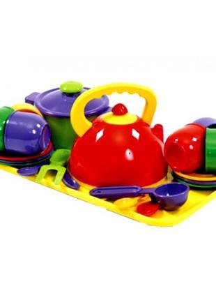 Набор посудки детский с кастрюлей (23 предмета)