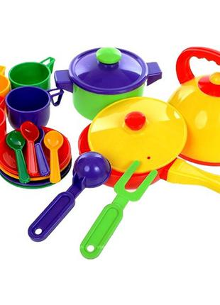 Набор посудки детский (17 предметов)