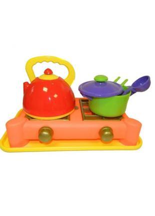 Посудка детская с плитой (6 предметов)