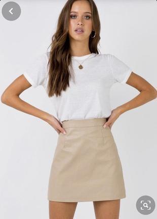 Кожаная юбка/шкіряна спідниця, акційна ціна -50%