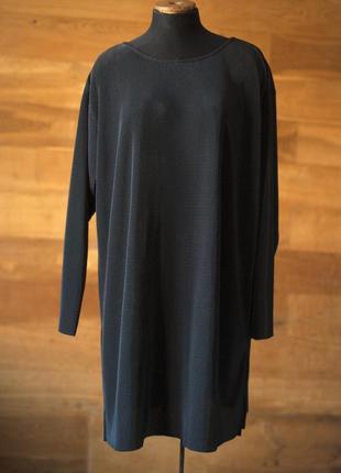 Плиссированное черное платье new fast, размер xl