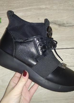 Ботинки на флисе женские жіночі полуботинки евро зима весна
