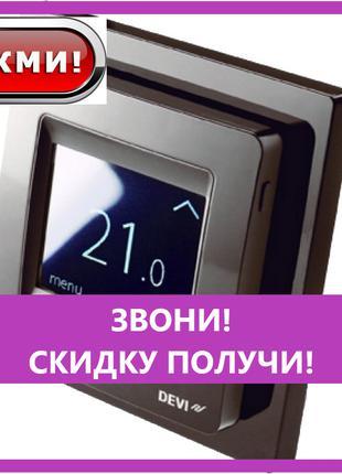 Терморегулятор Devireg TOUCH black программируемый (140F1069),...