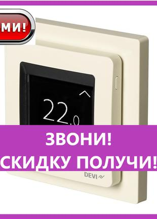 Терморегулятор Devireg TOUCH ivory программируемый (140F1078),...