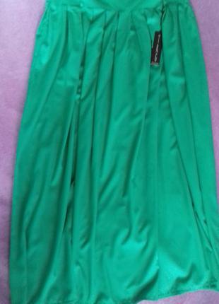 Красивая длинная юбка, юбка в пол, с мягкими складками по тали...