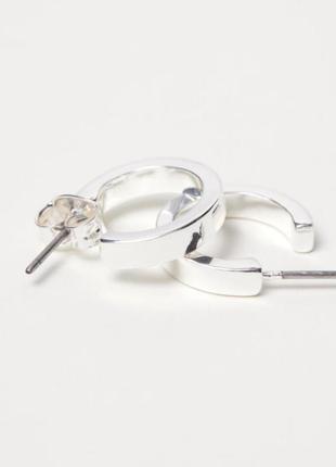 2 пары 4 штуки набор серег в форме колец серебро разного разме...