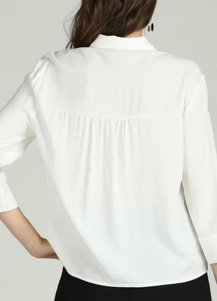Рубашка блуза на пуговицах свободная с ажуром кружево длинный ...