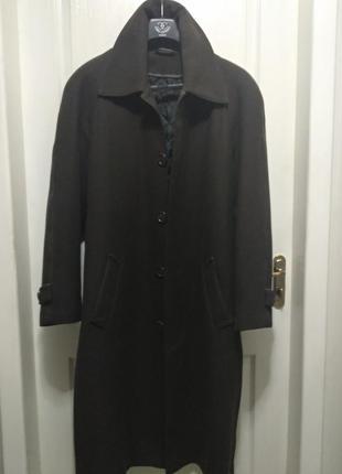 Дизайнерское мужское пальто зимнее, размер 52