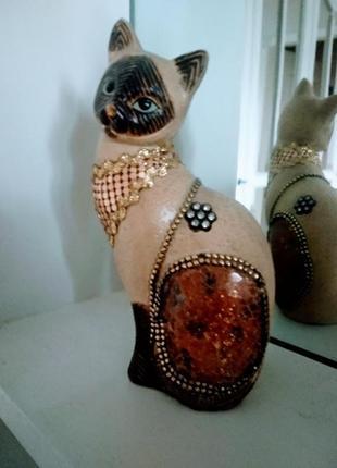 Статуэтка de rosa rinconada families котенок сиамский сидящий