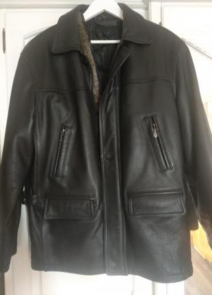 Куртка мужская кожаная зимняя sаmfun