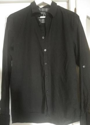 Черная рубашка dissident , размер 48