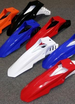 Крыло кроссовое на мотоцикл 17 двусоставное эндуро пластик обвес