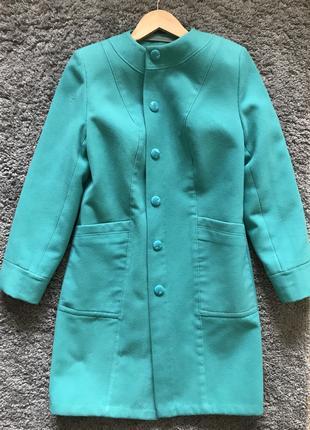 Новое голубое весеннее пальто