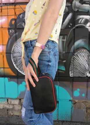 Кожаная молодежная итальянская сумка Virginia Conti