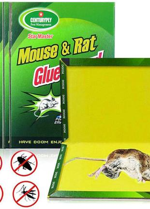 Клеевая ловушка от мышей, крыс, тараканов, пауков, змей 16х21см