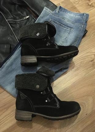 Новые кожаные тёплые ботинки из сша рр 37-38 не секонд +беспла...