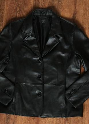 Женская кожаная куртка saki