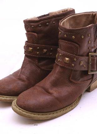 Monsoon children кожаные ботинки коричневые