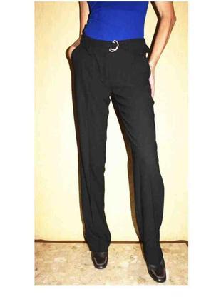 Шикарные стильные брюки классика с карманами поясом, от esprit...