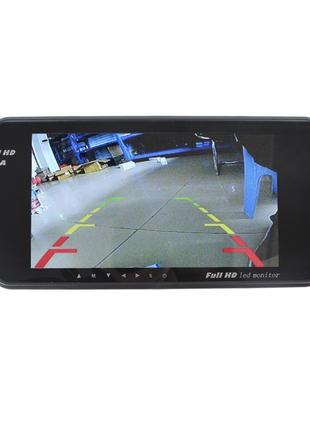 Зеркало заднего вида автомобиля 7 дюймов Full HD с сенсорным экра