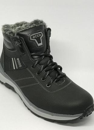 Ботинки мужские зимние ecco brzn 158 черные
