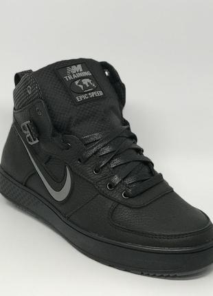 Ботинки мужские зимние кроссовки nike epic crips nm 16162 черные