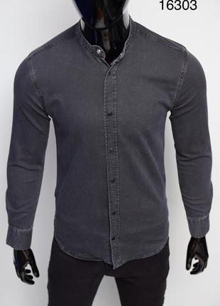 Рубашка мужская джинсовая figo цвета в ассортименте